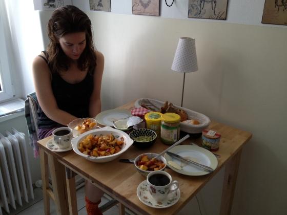 Beautiful breakfast in Berlin