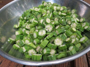 The last of the summer okra
