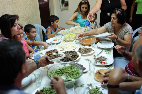 Saturday lunch at Najla's daughter's house in Beit Sahour, Bethlehem